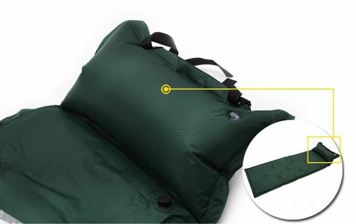 《沛大建材》充氣床墊 自動膨脹睡墊帶枕 送收納袋 多張可拼接 防潮 登山 露營 自動充氣 訪客【S70】