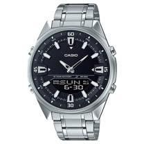 CASIO 卡西歐 雙顯男錶 不鏽鋼錶帶 十年電力 世界時間 燈光 電話簿 AMW-830D-1A