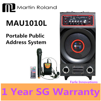 Martin Roland MAU1010L Portable Voice Amplifier PA System  Public Address Speaker