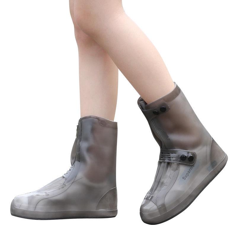 現貨鞋雨衣 矽膠雨鞋套  兒童雨鞋套 防水加厚耐磨鞋套❈♕雨鞋女韓國可愛時尚高筒雨鞋套防水雨天男防雨加厚防滑耐磨 成人
