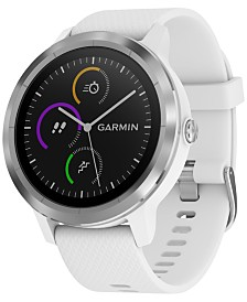Garmin Unisex vívoactive® 3 White Silicone Strap Smart Watch 43mm