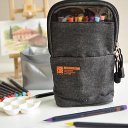 SAI日本彩繪毛筆 戶外寫生組 灰黑 (20色附水彩筆.描邊筆.水袋及調色盤)                              全20色