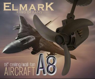 Elmark Aircraft P90  ceiling/wall fan 18""