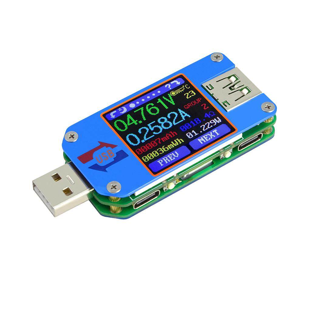 """Miracle Shining UM25 UM25C 1.44"""" USB 2.0 Voltage Test Meter Type-C Color LCD Display Screen"""