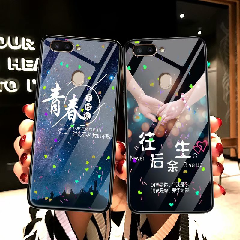 OPPO R11s Plus/R11s Beautiful TPU+Glass Case Cover