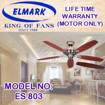 ELMARK CEILING FAN ES-803-AB/MS/GM/WH