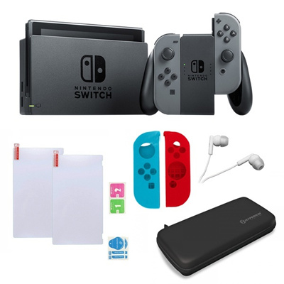 Nintendo Switch in Gray with Sleevs and Accessories Bundle
