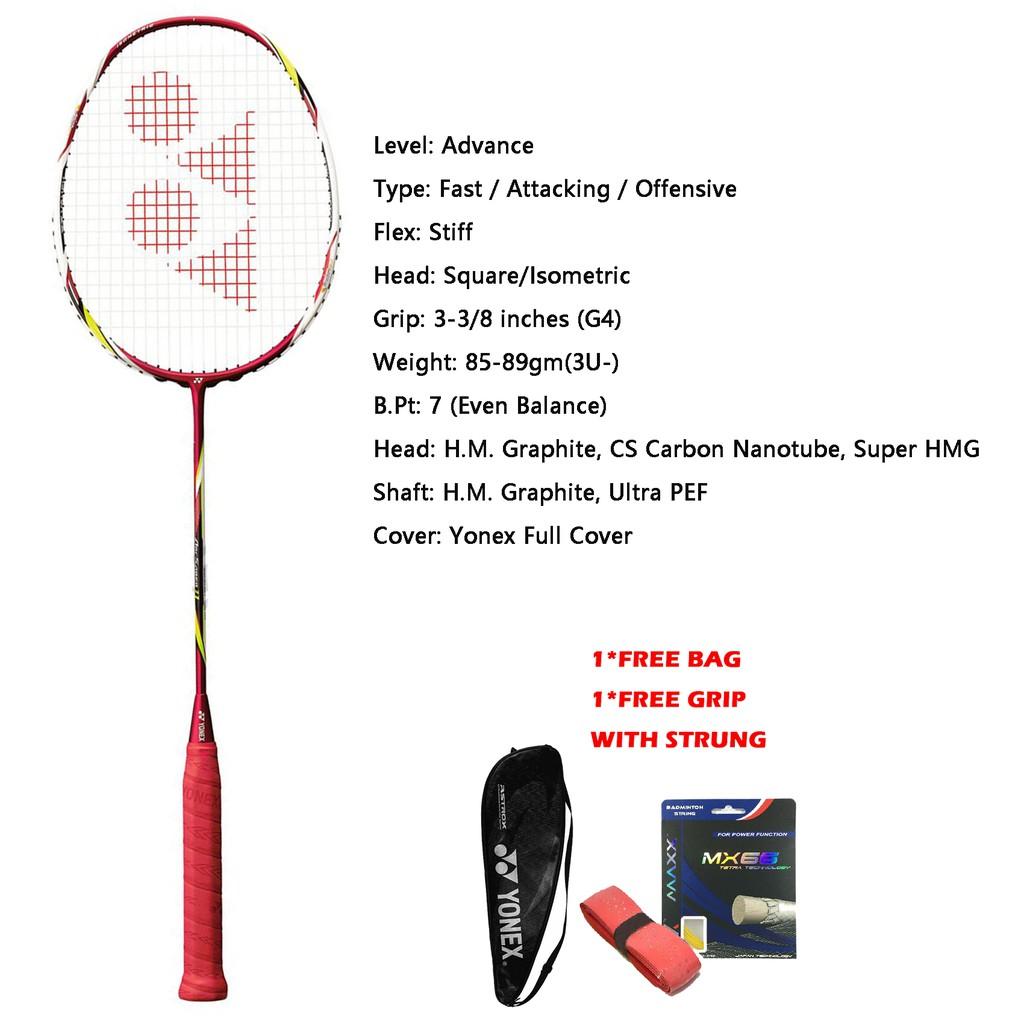 Yonex ArcSaber 11 (Arc11) 3UG4 Metallic Red Badminton Racket Japan version