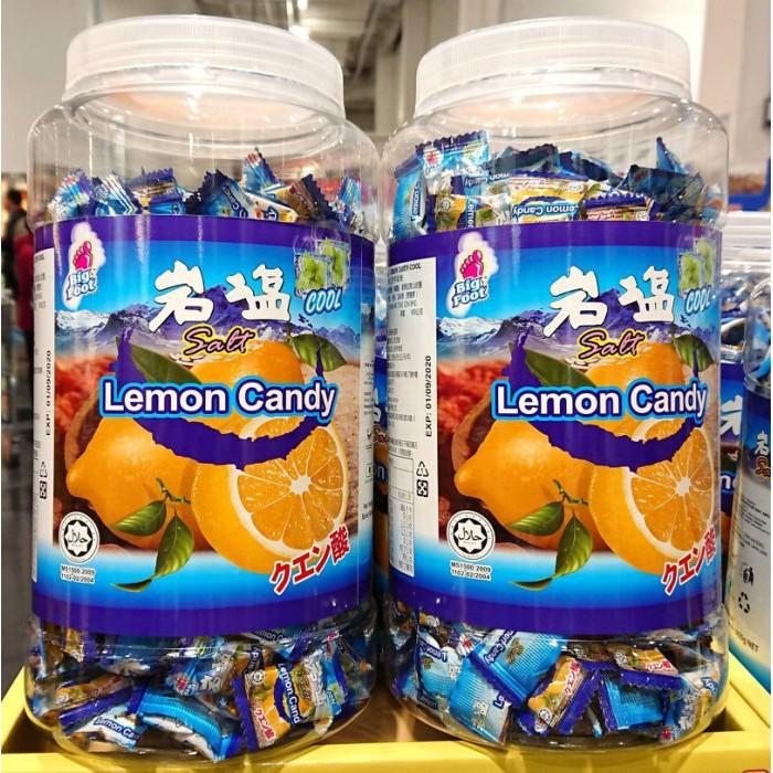 Bigfoot 薄荷岩鹽檸檬糖 900公克 馬來西亞進口 人氣美食 糖果 零嘴 好市多代購