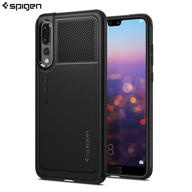 South Korea Spigen Huawei P20 Pro Phone Case All Edges Included Shatter-resistant Protective Case P20 Silica Gel Soft Cover Fashion Man New Style