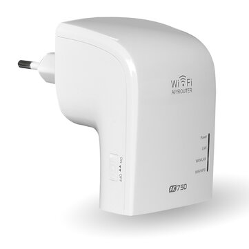 MECO AC750 2.4GHz 5GHz Dual Band 750Mbps Wireless WiFi Range Extender Repeater Router AP EU Plug