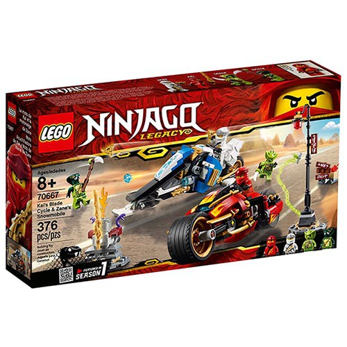 LEGO 樂高 70667 赤地的刀鋒轉輪車及冰忍的雪地摩托車 NINJAGO 旋風忍者系列 < JOYBUS >
