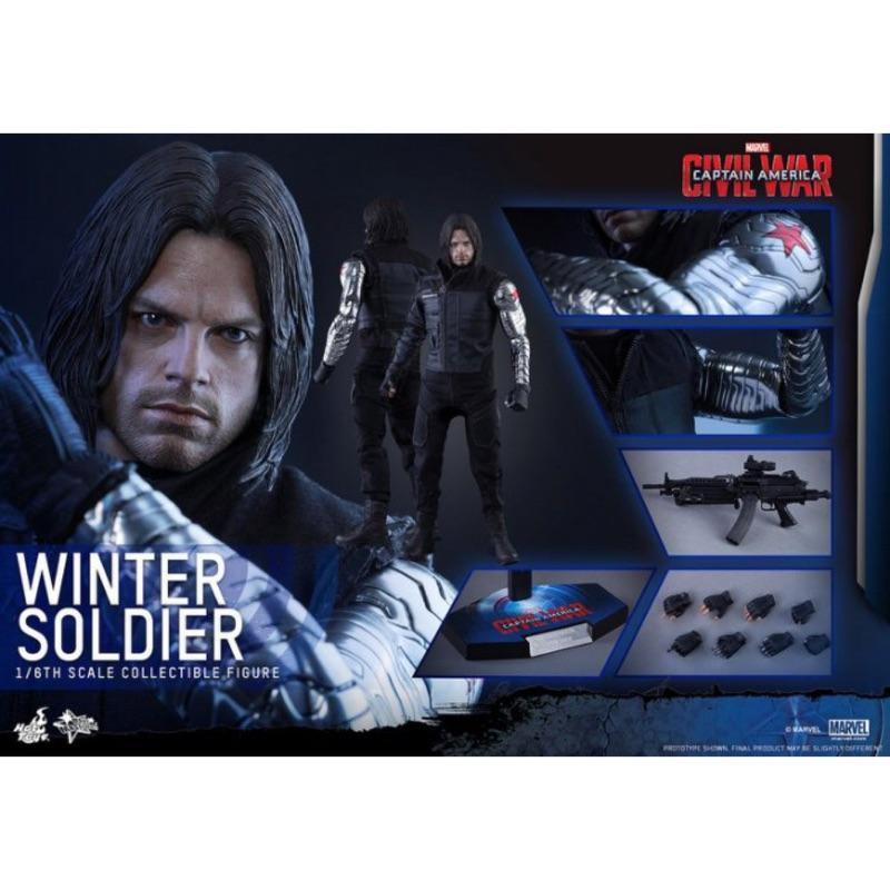 全新未拆 Hot toys mms351 酷寒戰士 巴奇 美國隊長 內戰 非 鋼鐵人 雷神索爾 蜘蛛人 奇異博士