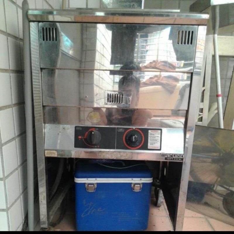 商用油炸機+油煙水洗機內含抽風馬達