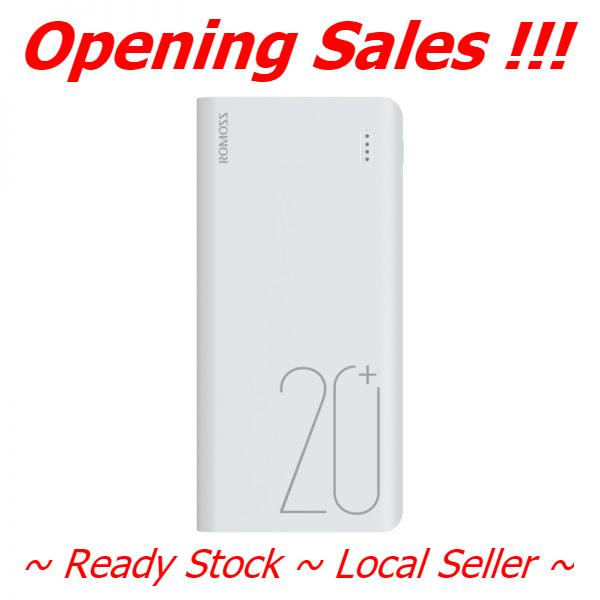 Romoss Sense 6+ 20000mAh Powerbank Fast Charge with QC 3.0  ~ Ready Stock ~ Fast Delivery ~