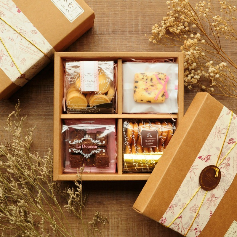 [滿單預購中]【香貝里手工餅乾】秋月蝴蝶禮盒 附提袋 喜餅 蝴蝶酥 手工餅乾 巧克力 伴手禮