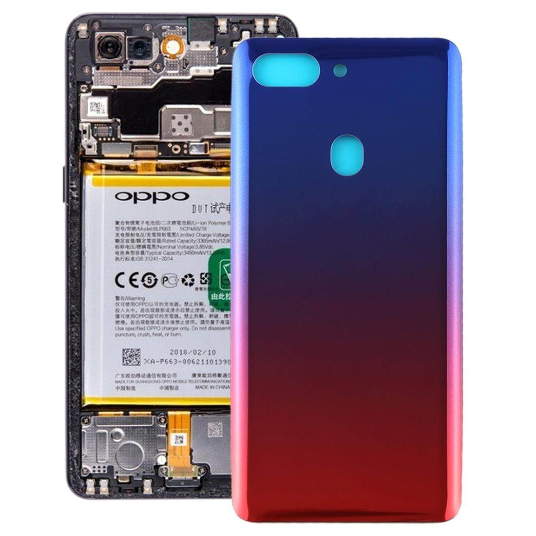 RongNEW Curved Back Cover for OPPO R15 Pro(Twilight)