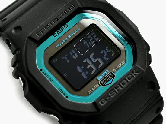 G-SHOCK G打擊G打擊Bluetooth手機鏈接功能返銷進口海外型號卡西歐CASIO電波太陽能數碼手錶黑色藍色GW-B5600-2 GW-B5600-2DR G-SUPPLY