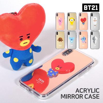 【BT21 x LINE FRIENDS】 BTS BangTan iPhone Galaxy Acrylic Mirror Case GIFT!
