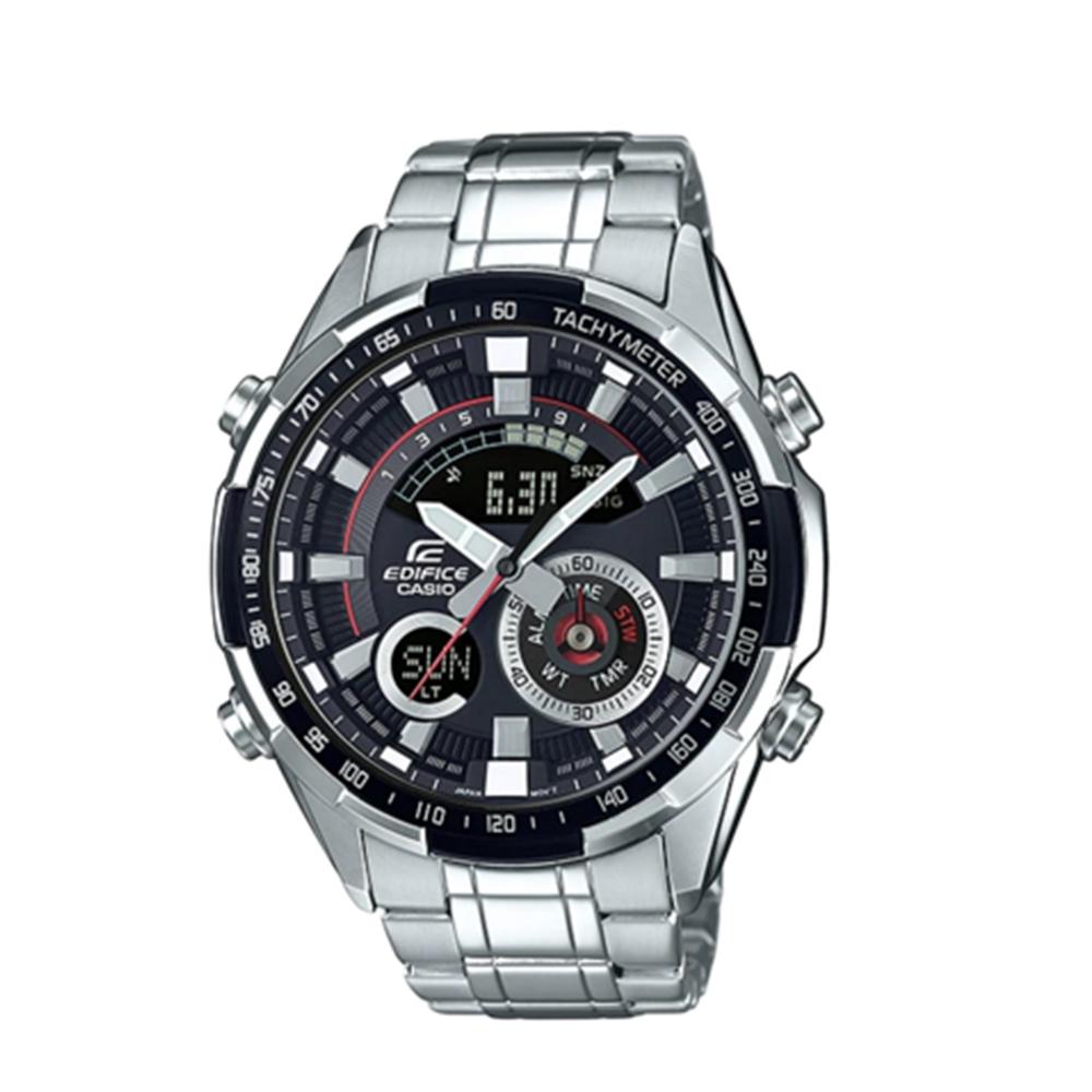 CASIO卡西歐 立體金屬時刻不鏽鋼雙顯男腕錶(ERA-600D-1A)-黑x47mm