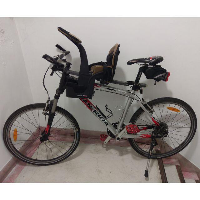 MERIDA美利達冠軍一號X3配Wee Ride袋鼠椅~好爸爸載寶貝騎車出遊專屬配備~小孩長大了改騎小折~隨便賣不寄送