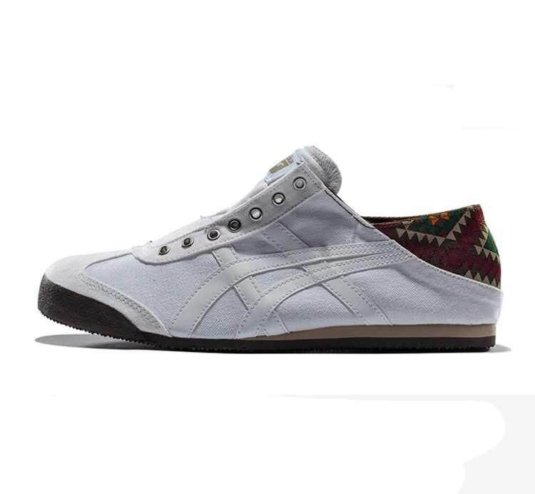 Original ASIC Onitsuka Tigers MEXICO 66 Slip-On Classic Running Sneaker Outdoor Men's and Women's Onitsuka Tigers MEXICO 66 Casual Canvas Shoe Grey