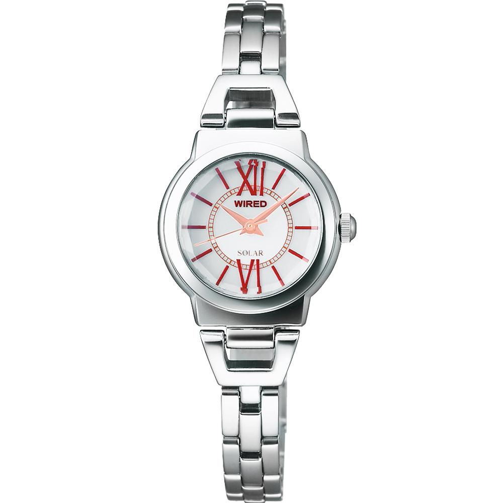 WIRED 知性美人手鍊女錶-銀/22mm