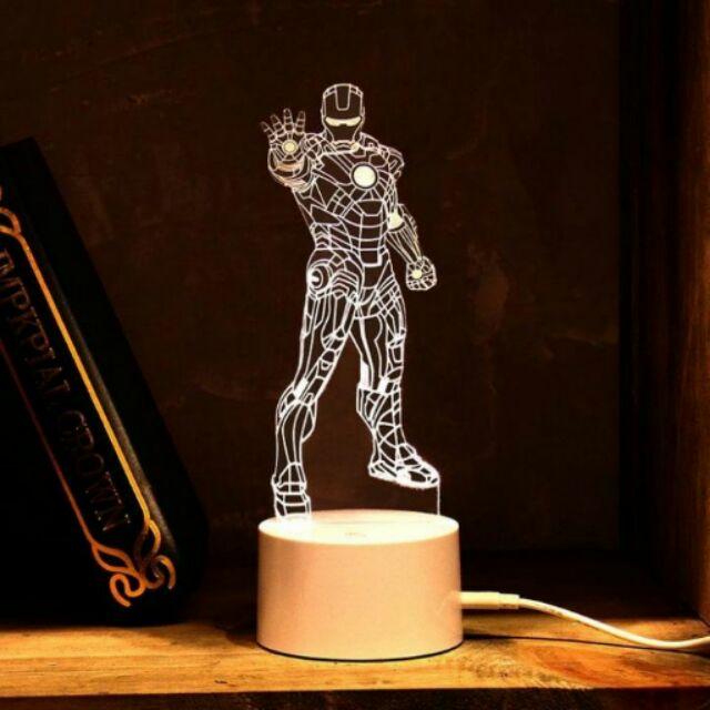 3D造型LED小夜燈 鋼鐵人3D造型LED小夜燈 新款附遙控器 創意禮物 鋼鐵人擺飾