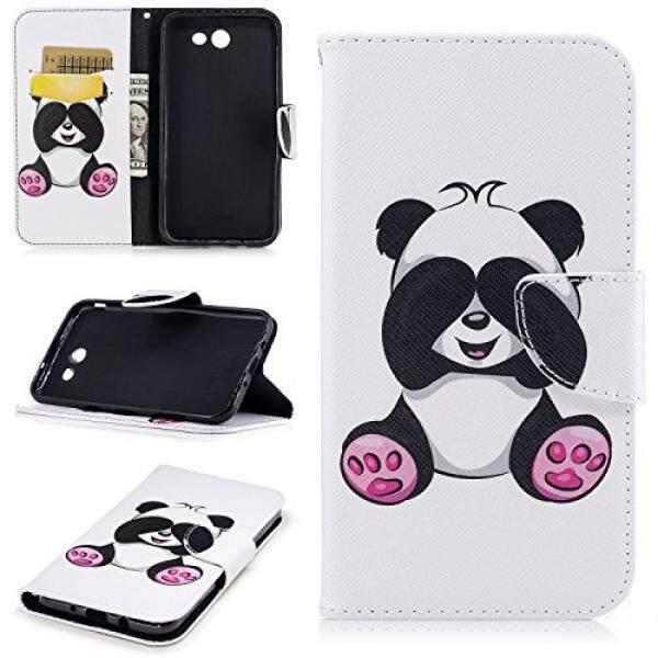 Samsung J7 Case Wallet, Samsung J7 Perx Case, Samsung Galaxy J7 Prime Panda Case, PU Leather Credit Card Holder Cash Pocket Protective Samsung Galaxy J7 Cover for Galaxy J7 2017/J7 Sky Pro/J7 V/Wide 2 - intl