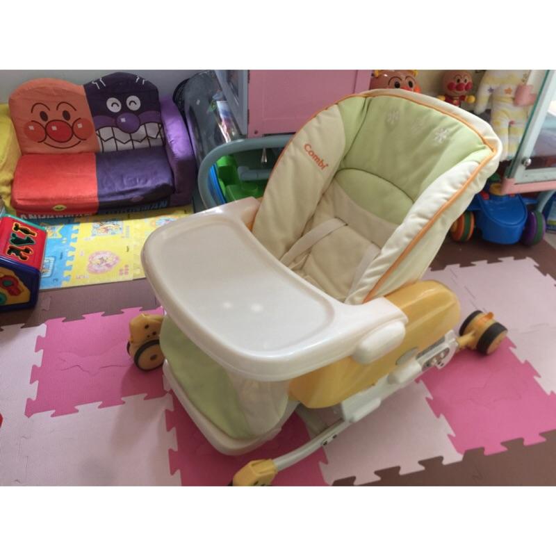 二手 Combi 電動餐搖椅 安撫椅