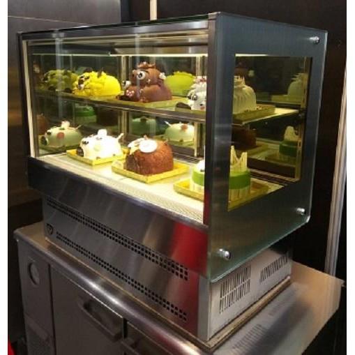 冠億冷凍家具行 2019新款台灣製金格四尺桌上型直角蛋糕櫃/4尺落地直角蛋糕櫃/西點櫃、巧克力櫃/玻璃兩側有除霧