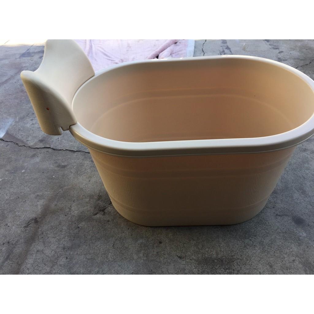 塑料泡澡桶附靠枕/SPA桶/沐浴桶/御湯桶/洗澡桶/浴缸/木桶/乾溼分離/衛浴設備A2591【晶選二手傢俱】