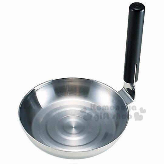 〔小禮堂〕ARNEST 日製不鏽鋼親子丼平底鍋《銀》直徑17cm.單人鍋