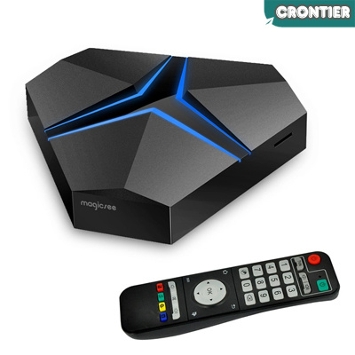 [CRONTIER]Magicsee Iron+ 4k HD Android tv box 3+32GB OTA Update OEM tv box from Magicsee