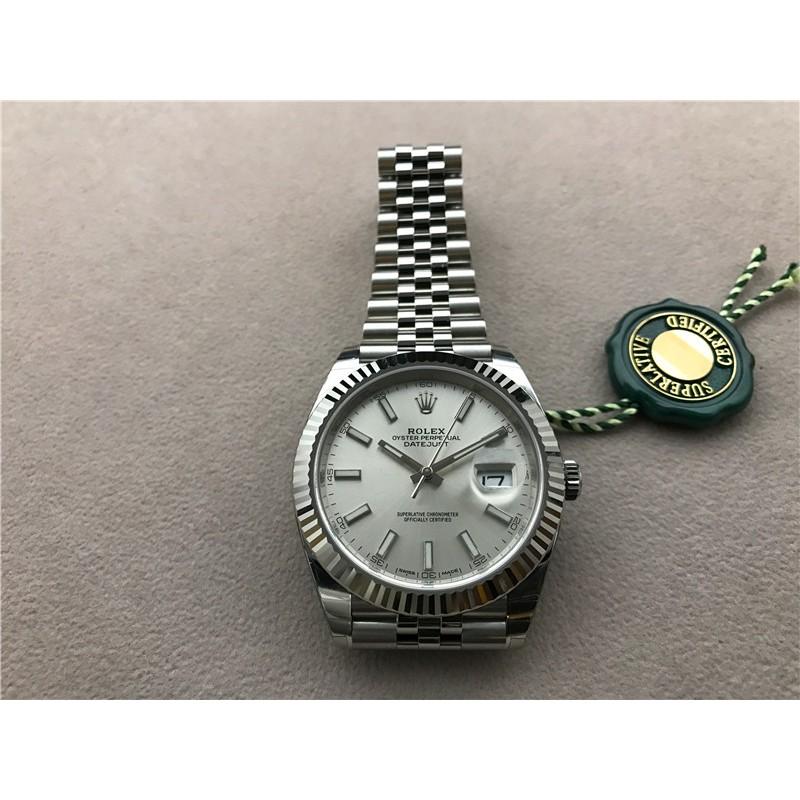 Rolex 勞力士 日志型 41mm 126334 銀色盤 五珠帶
