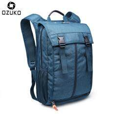 OZUKO Waterproof Nylon 14-inch Laptop Backpack Large Capacity Business Backpack Multifunction Travel Bag School Bag Outdoor Hiking Travel Backpack