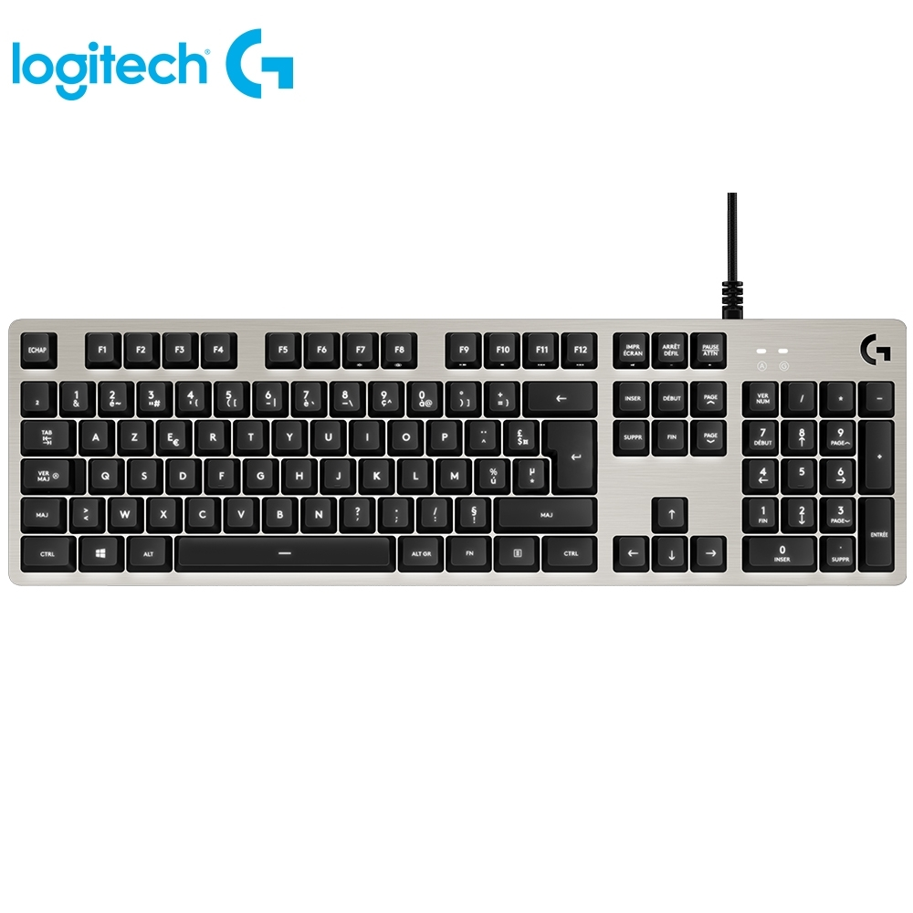 [logitech 羅技 ]  機械式背光遊戲鍵盤-白 G413