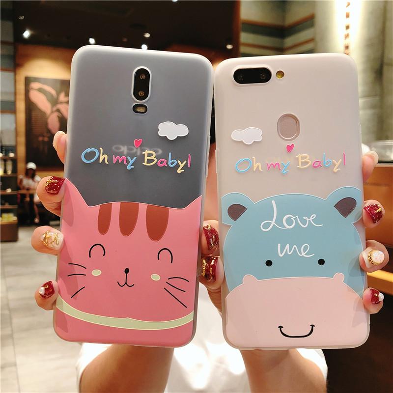 冠诺诚Case for Huawei P10/ P10 plus/ p20/ p20 pro/ p20 lite/ nova 3/ nova 3I/ nova 2S/ nova 3E TPU Material Hippo Cat Painting Pattern Exquisite and beautiful mobile phone case