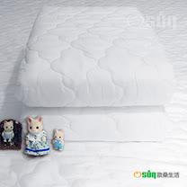 【Osun】防蹣/防水床包式保潔墊(單人 三色可選)