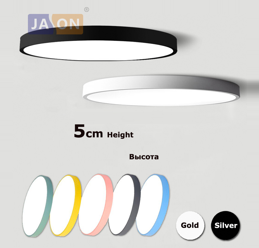 Lights & Lighting Led Modern Acryl Alloy Silver Round 5cm Super Thin Led Lamp.led Light.ceiling Lights.led Ceiling Light.ceiling Lamp For Foyer