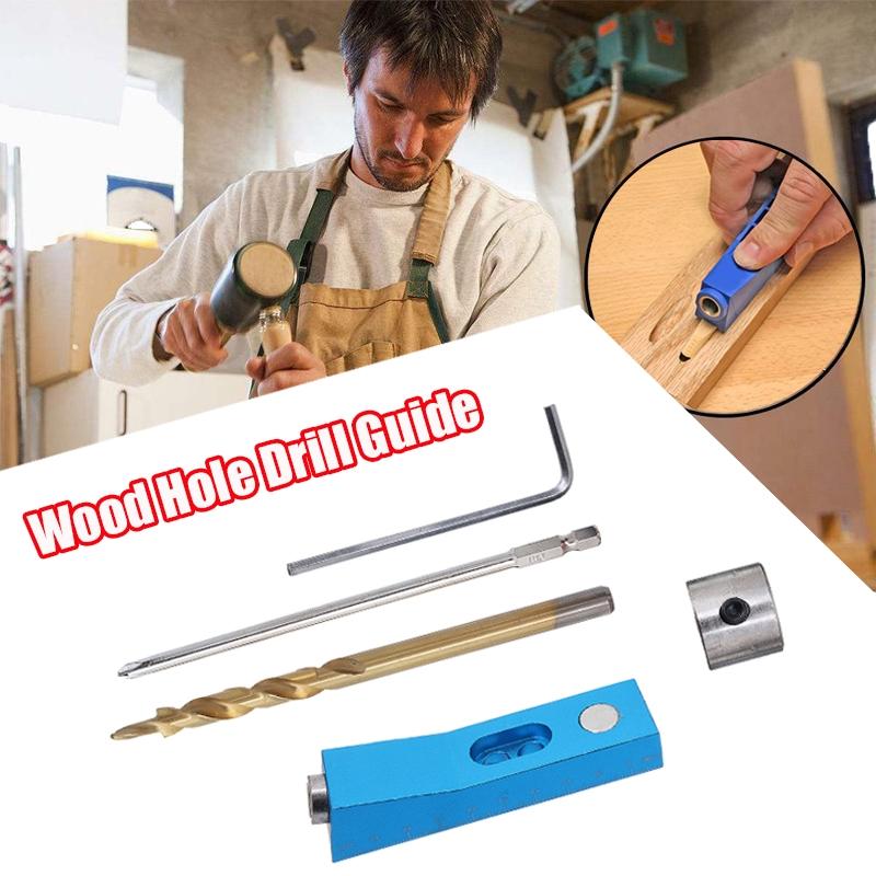 DA►木工鑽孔導向器打孔器夾具套件►定位孔定位器角度
