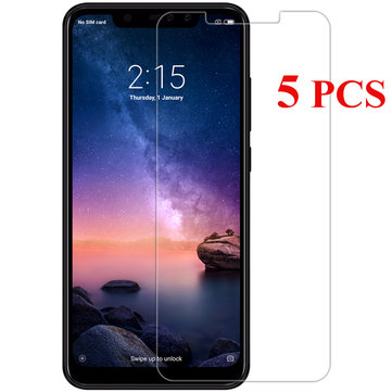 5PCS Bakeey Anti-Explosion Tempered Glass Screen Protector For Xiaomi Redmi Note 6 Pro