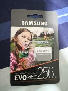 Brand new sealed Samsung microSD Card memory 256gb u3 evo select not SanDisk
