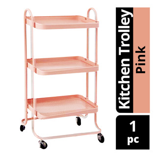 Imported Kitchen Trolley - Pink