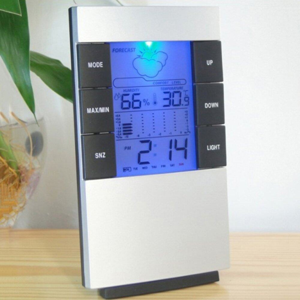 Home Large Backlight Digital Calendar Thermometer Hygrometer Clock (SG)
