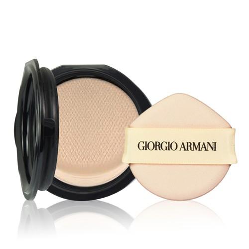 GIORGIO ARMANI亞曼尼 訂製雪紡亮白精華氣墊粉餅(補充蕊)15g 夢幻水蜜桃粉氣墊粉餅 小婷子
