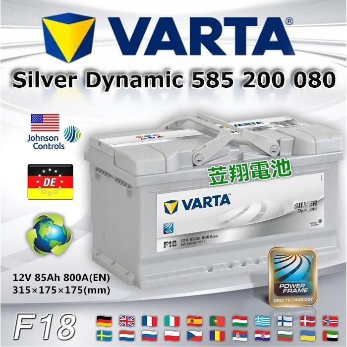 【電池達人】VARTA F18 德國進口 華達電池 汽車電瓶 58514 58515 58014 KUGA FOCUS