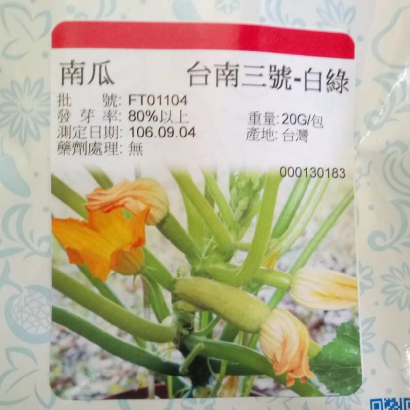 節瓜種子 櫛瓜種子 抗白粉病 台南三號 早生矮種 蘋果綠 淡綠 新品種  盆植 苦楝油防治