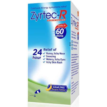 Zyrtec-R Rapid Relief (Box of 3) 75ml