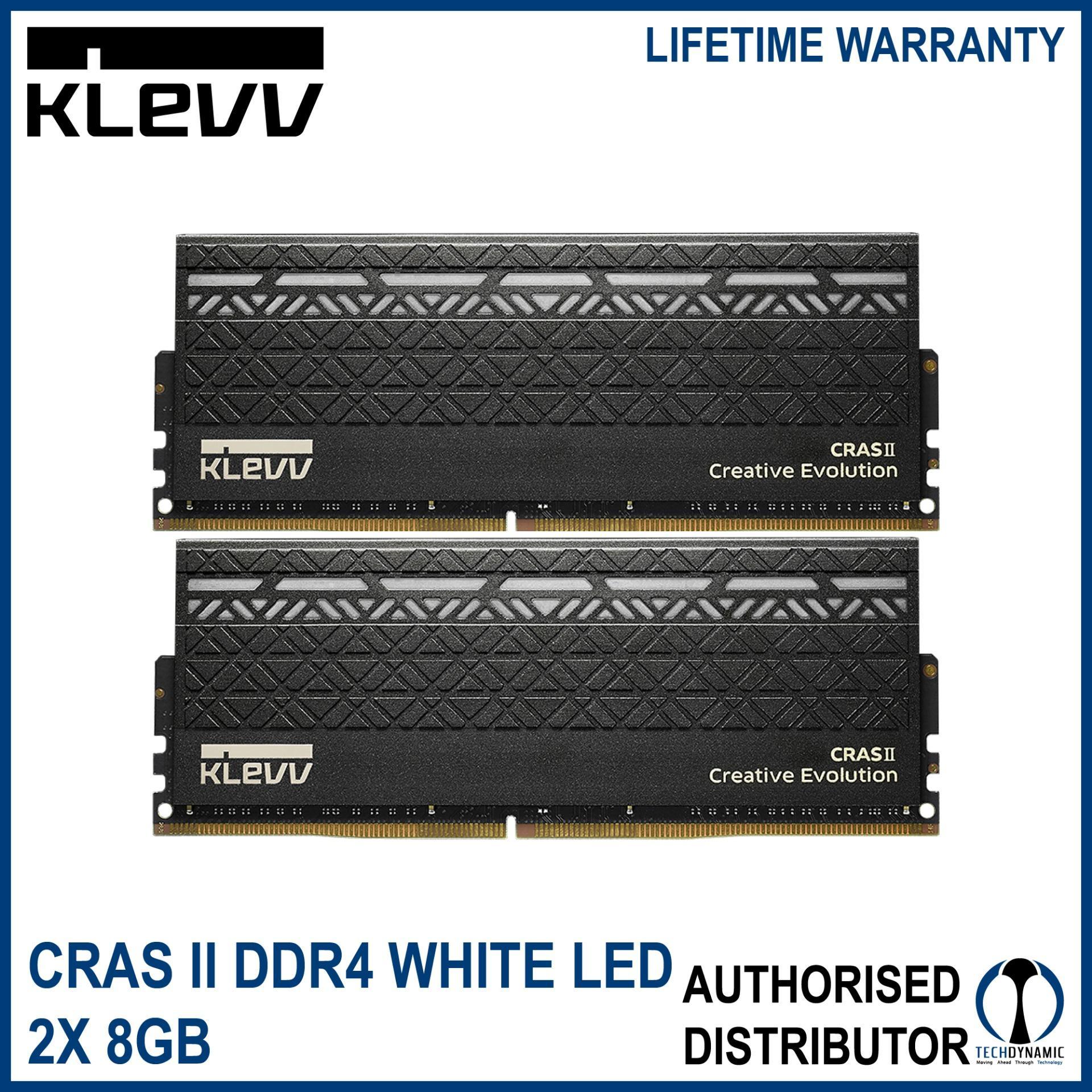 KLEVV CRAS 2 (2x8GB) DDR4 - 3000 CL 15 White LED